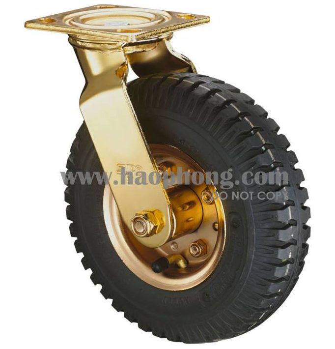 Bánh xe cao su lốp hơi mạ Cr (Chromium)