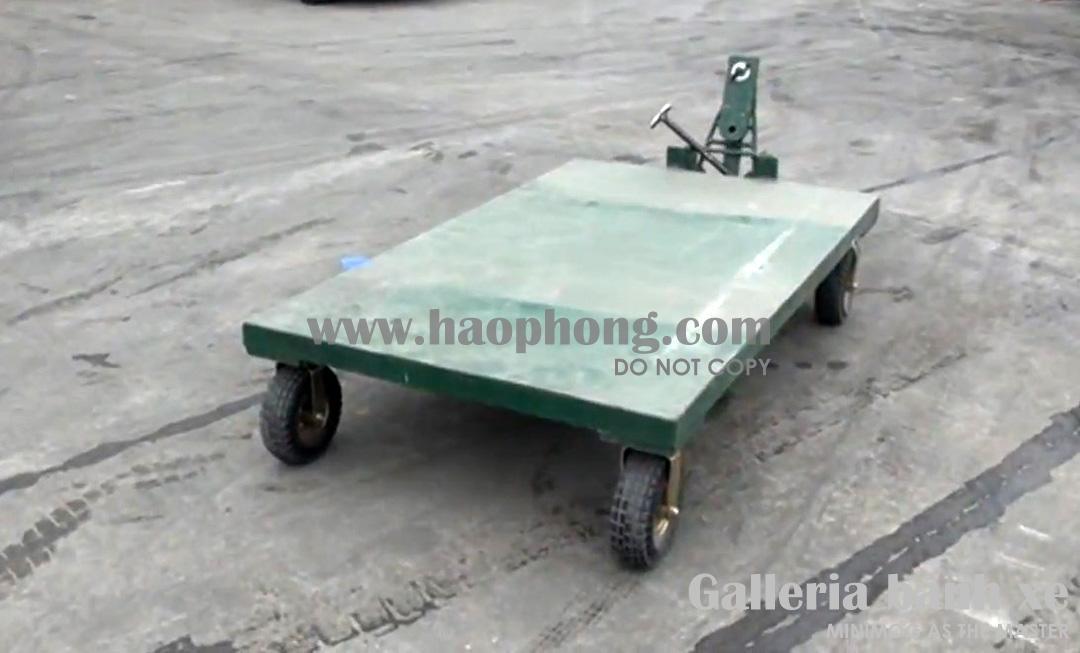 Xe đẩy hàng dùng trong buổi thử nghiệm