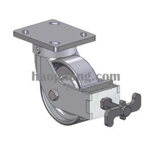 Tay vặn khóa bằng má phanh tiếp xúc mới bề mặt bánh xe đẩy